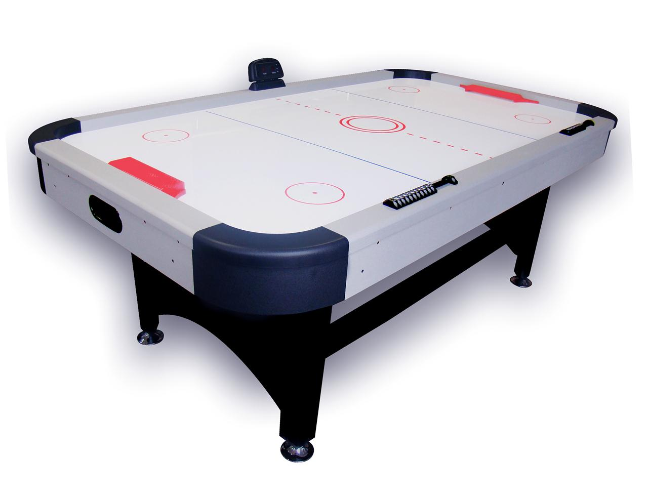 7ft deluxe air hockey table electronic scorer powerful for Air hockey blower fan motor