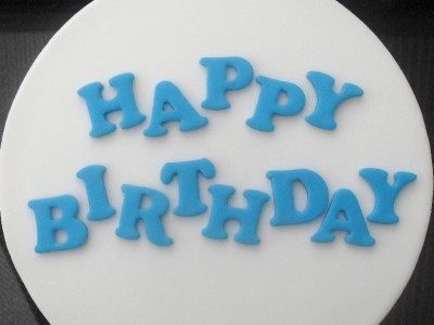 Cake Decorating Sugar Letters : HAPPY BIRTHDAY edible sugar letters cake toppers BLUE eBay