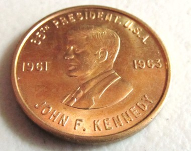 JOHN F. KENNEDY 35th PRESIDENT U.S.A. 1961 1963 COIN BOTH SIDES SAME