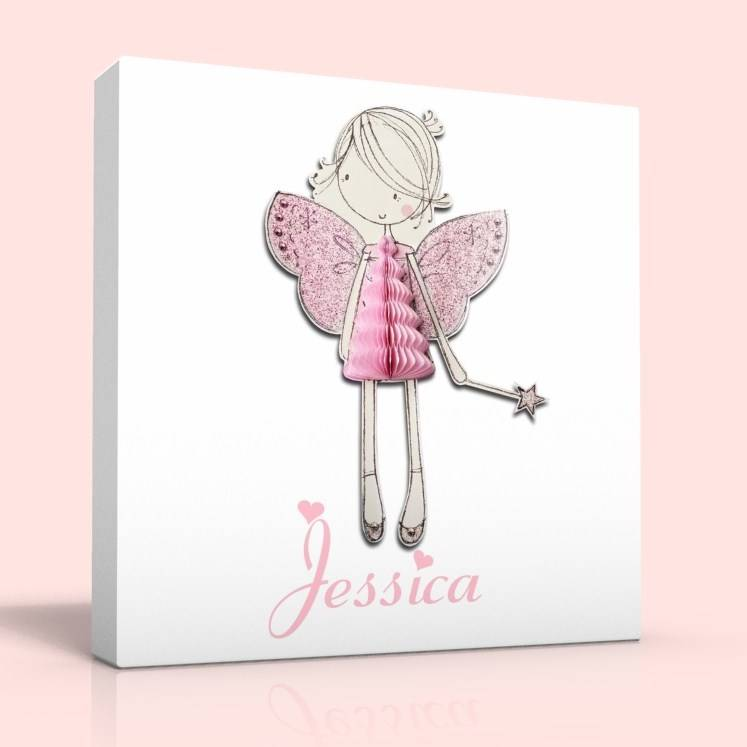 PERSONALISED DEEP EDGE CANVAS PICTURE AMY FAIRY FREE P&P