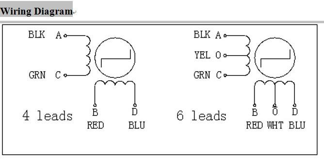 on 2 phase 4 wire stepper motor wiring diagram