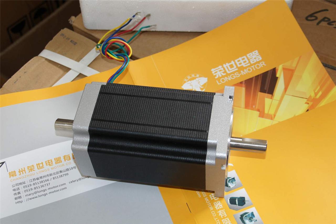 Eu ship stepping motor nema34 dual sahft 1600 for 6 amp stepper motor driver