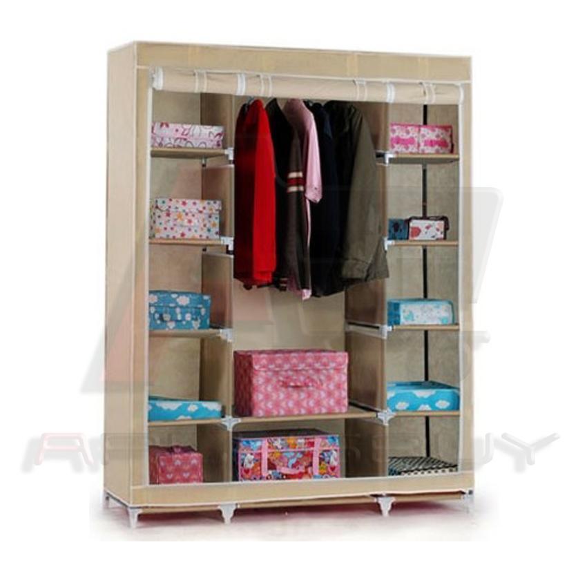 Large Portable Closet : Large portable wardrobe closet clothes storage home