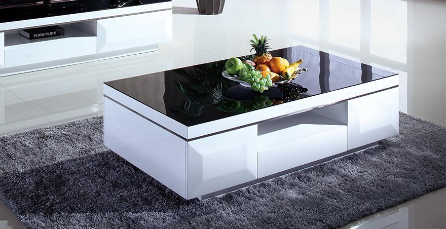 Brand new high quality gloss black white coffee table for High quality coffee tables