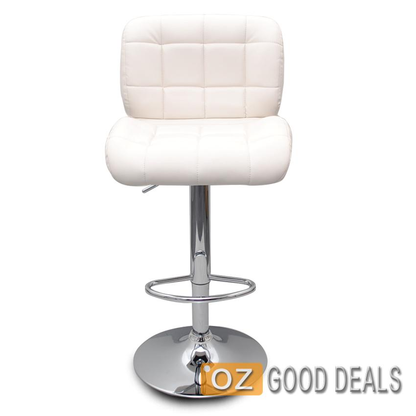 Swivel Bar Stool With Gas Lift And Chrome Base In Black Pu