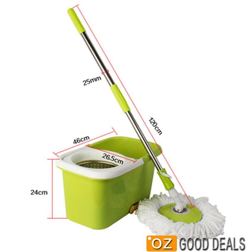 Stainless Steel Mop : Magic Mop 360? Spinning Stainless Steel Spin Bucket 2 Microfibre Mop ...