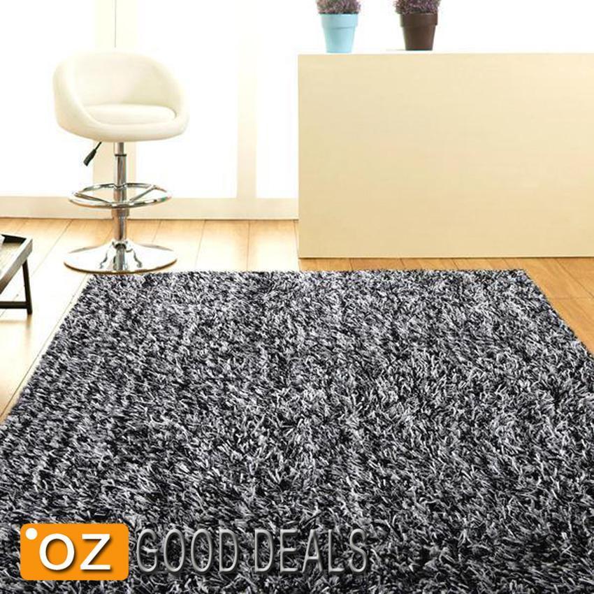 28 black and white shaggy rug modernist black and white rya