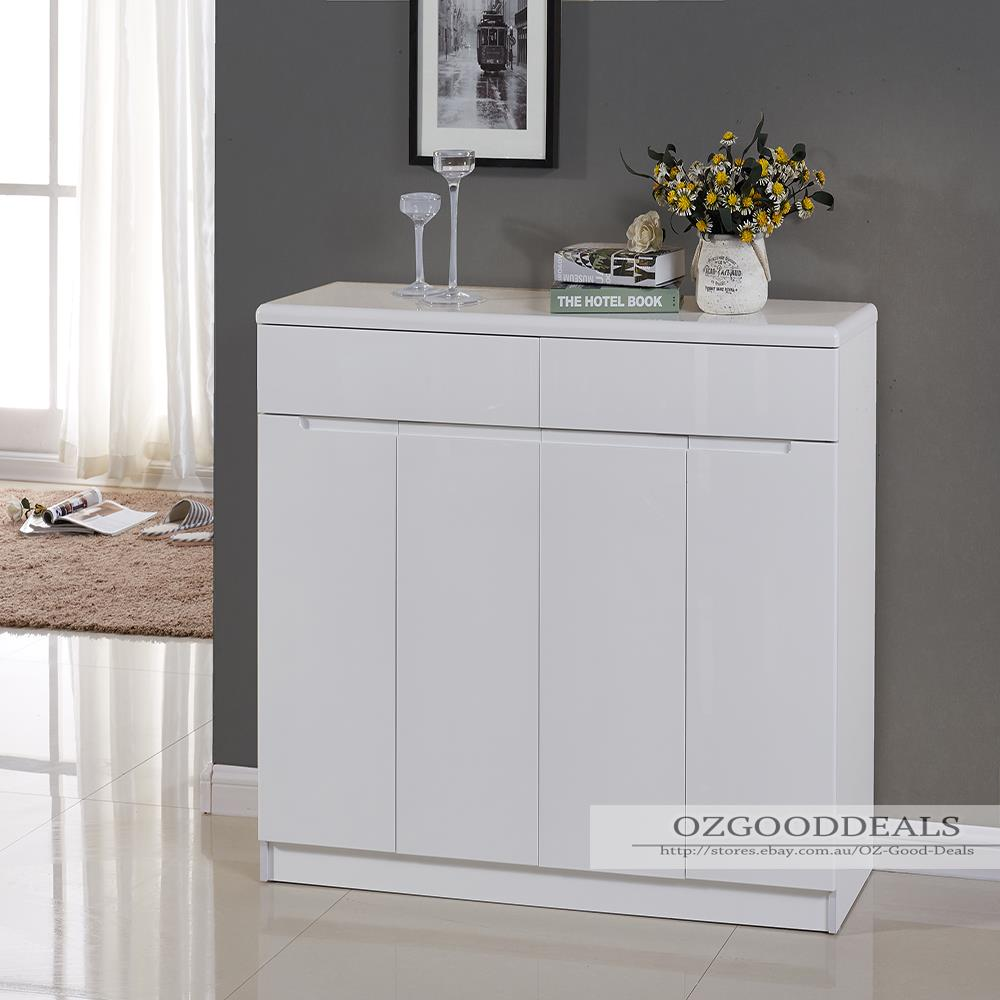 high gloss white wooden storage shoe cabinet rack 1194mm. Black Bedroom Furniture Sets. Home Design Ideas