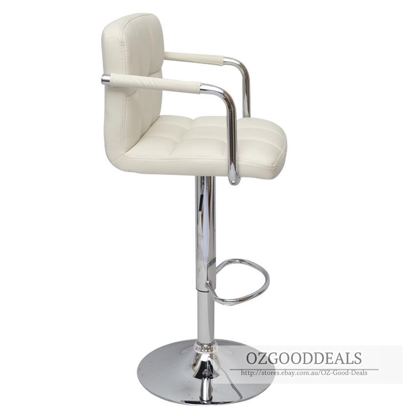 2x PU Leather Bar Stool Kitchen Chair Armrest Swivel  : 904665806o from www.ebay.com.au size 850 x 850 jpeg 30kB