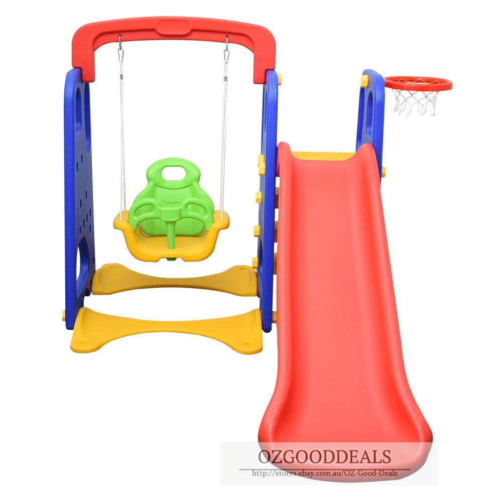 2017 Model Children Kids Toddler Slide Swing Basketball