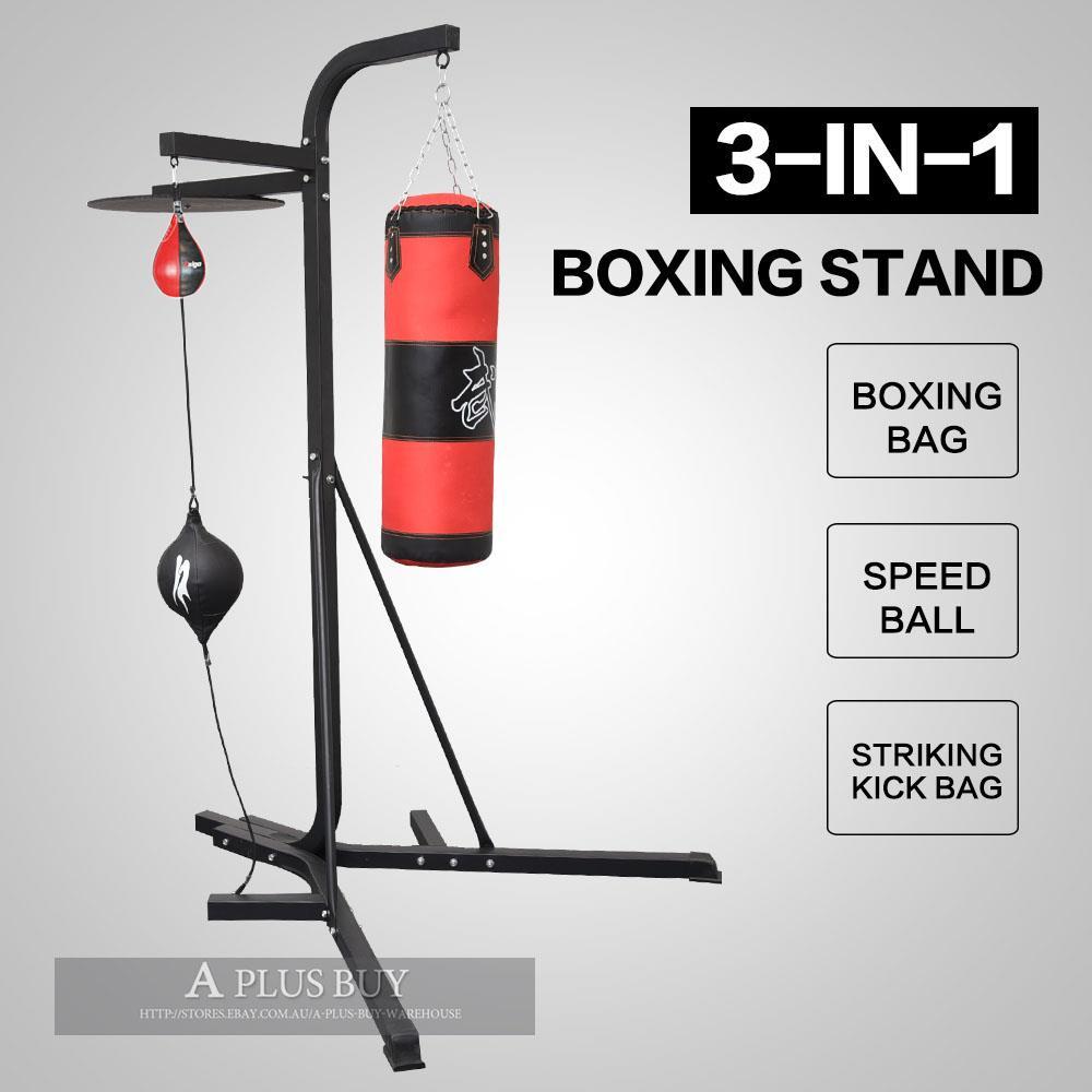 3-in-1 Punching Kicking Boxing Bag Speed Ball Training ...