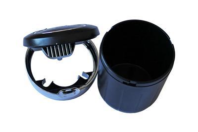 aschenbecher led beleuchtung auto kfz kippent ter deckel schwarz q032. Black Bedroom Furniture Sets. Home Design Ideas