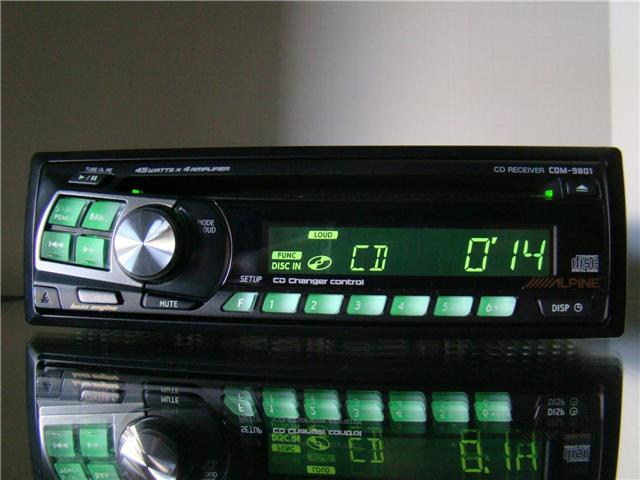alpine car cd  ipod aux player stereo receiver cd changer Alpine CDM 9801 Review alpine cd receiver cdm-9801 manual