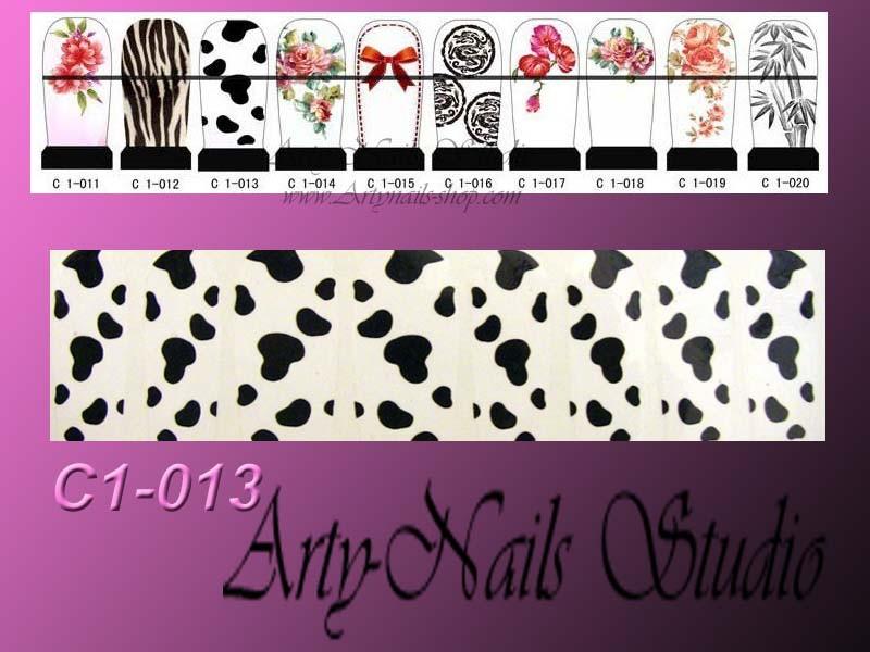 2011  water nail art sticker ,nail art decals C1 C8