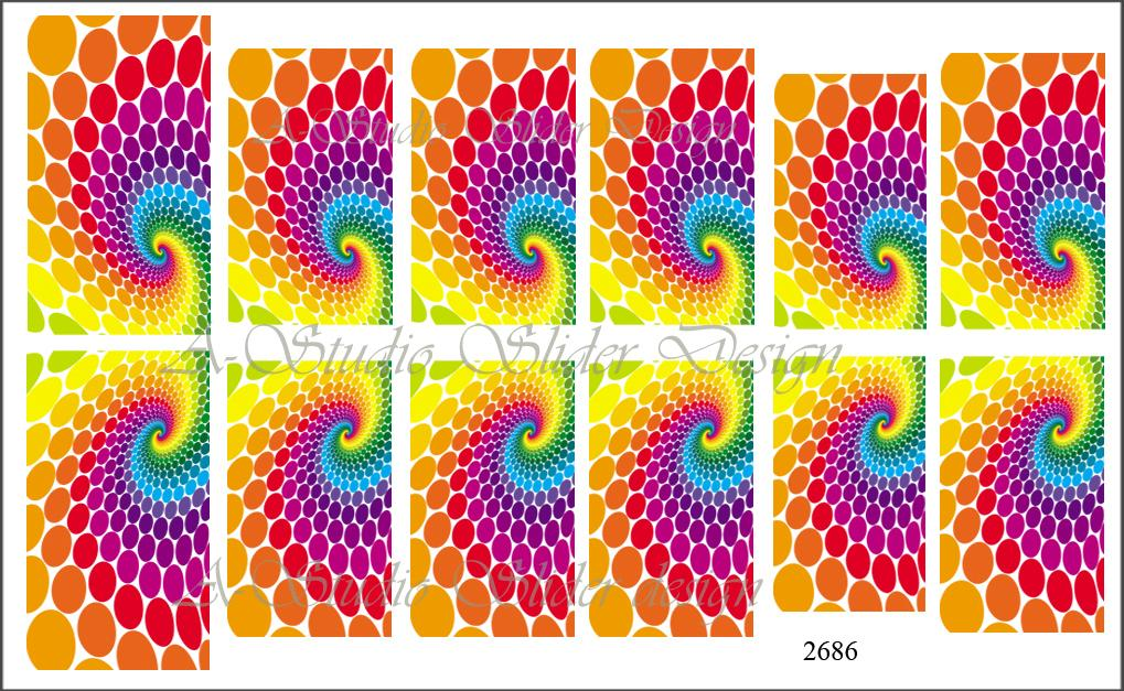 Abstract SLIDER design Nail Art , water slide decal for gel polish/ acrylic/ gel