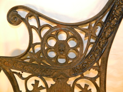 Vintage Cast Iron Bench Ends Posts W Lions Head Great Detail Ebay