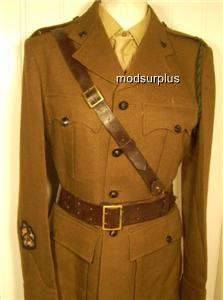 Army-Military-Officer-Sam-Browne-Leather-Brown-Belt