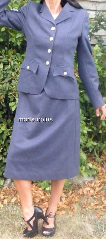 NEW-Womens-ladies-RAF-Royal-Air-Force-no1-Dress-Uniform-Skirt-WRAF-all-sizes