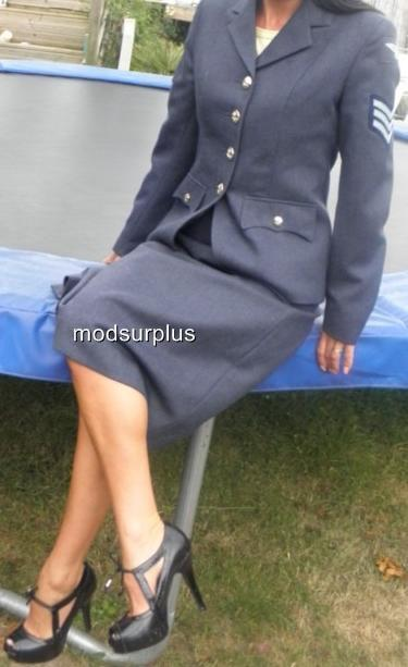 Womens-ladies-RAF-Royal-Air-Force-no2-Dress-Uniform-Skirt-WRAF-all-sizes-listed