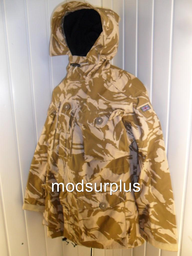 NEW-British-Army-Surplus-Desert-Windproof-Camo-Combat-Jacket-Smock-SAS-PARA