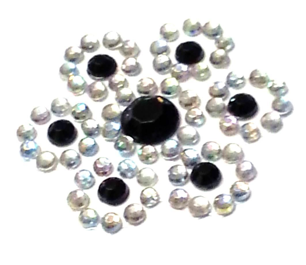 Craftbuddyus cb059 9 diamante black self adhesive stick on for Stick on gems for crafts