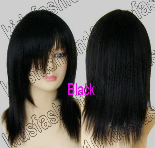 16-Inch-Free-Shipping-Medium-Hair-Silky-Straight-Cosplay-Wig-All-Color