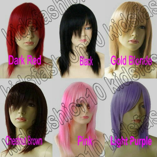 16-Inch-Free-Shipping-Medium-Hair-Silky-Straight-Cosplay-Wig-All-Color-51