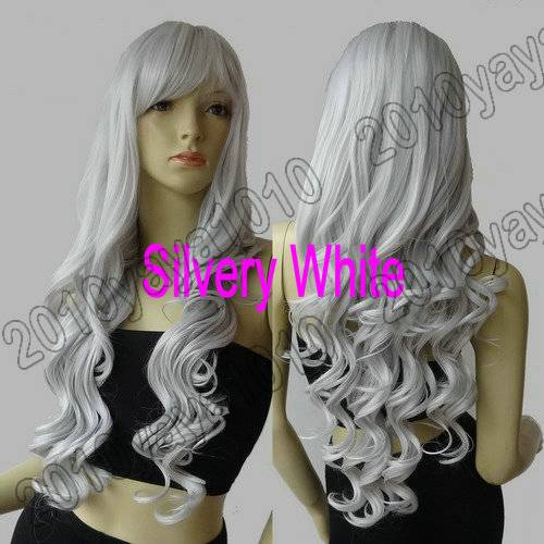 All Color 80cm Long 32 in. Spiral Curly Heat Resistant Cosplay Wig Synthetic 83G