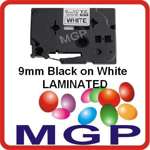 1-Laminated-Black-on-White-9mm-Tape-for-Brother-TZ221-PT-1280-PT-1290-PT-1230PC