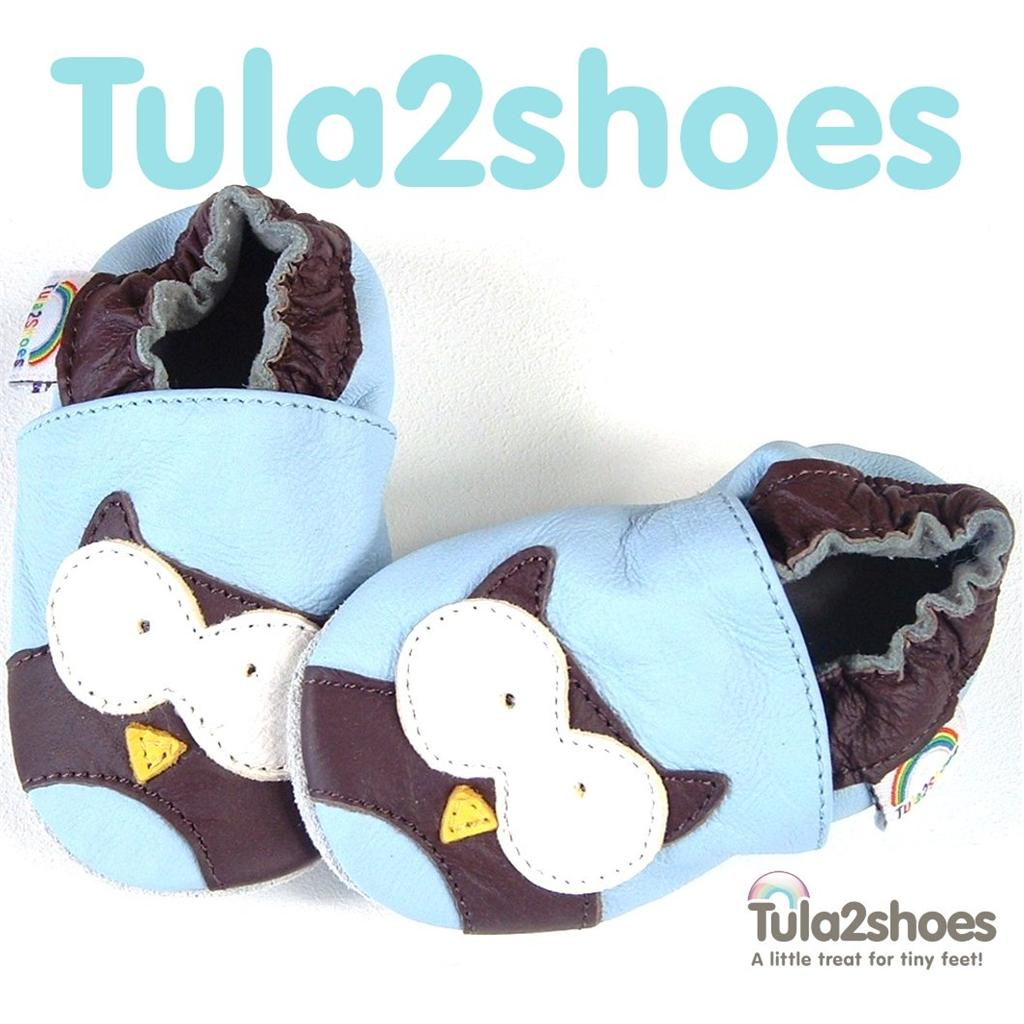 tula2shoes-SOFT-LEATHER-BABY-BOYS-FIRST-PRAM-SHOES-SLIPPERS-OWL-0-6-12-18-24-M