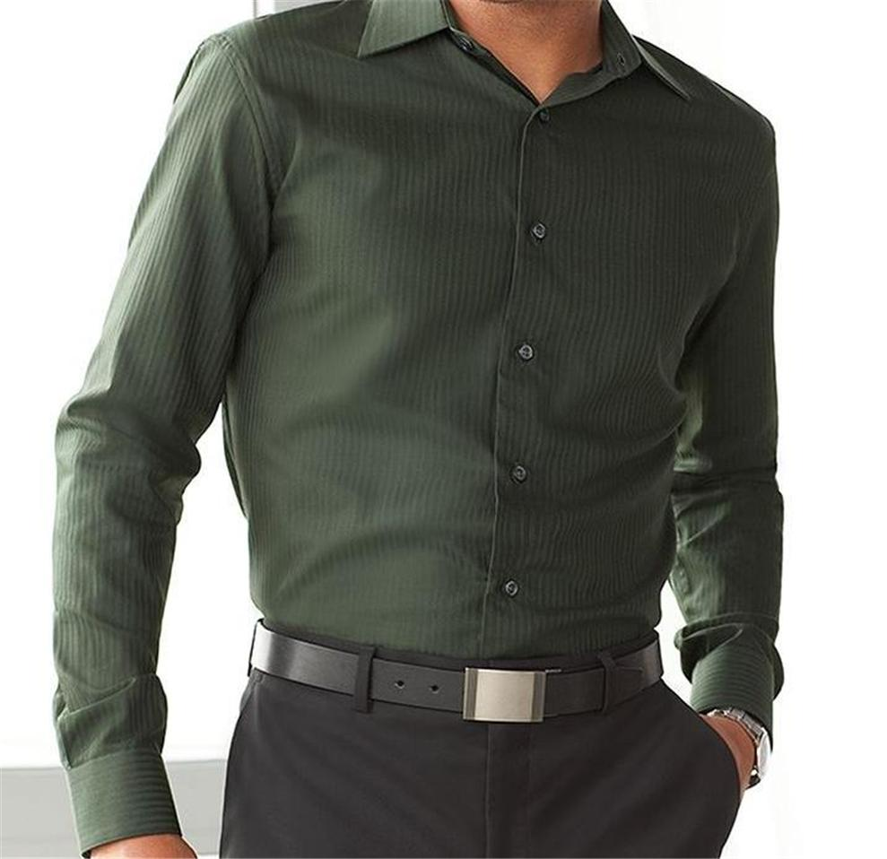 Apt 9 men solid tonal stripe casual dress shirt 42 44 for Apartment 9 dress shirts