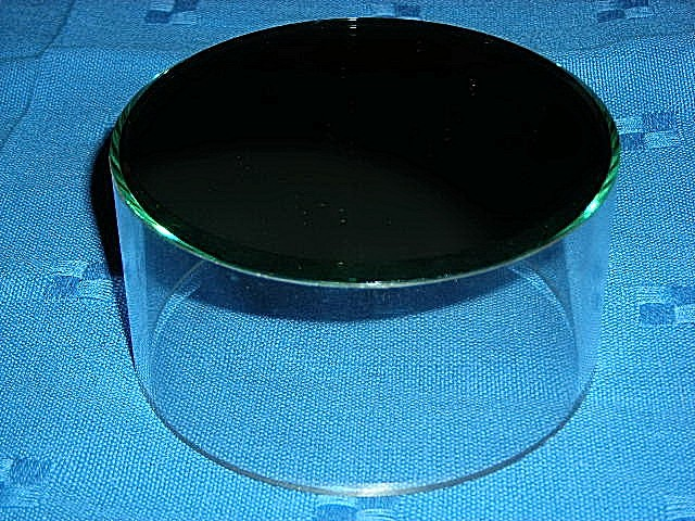 Beveled mirror acrylic cylinder collectible 39 s display for Different sized mirrors