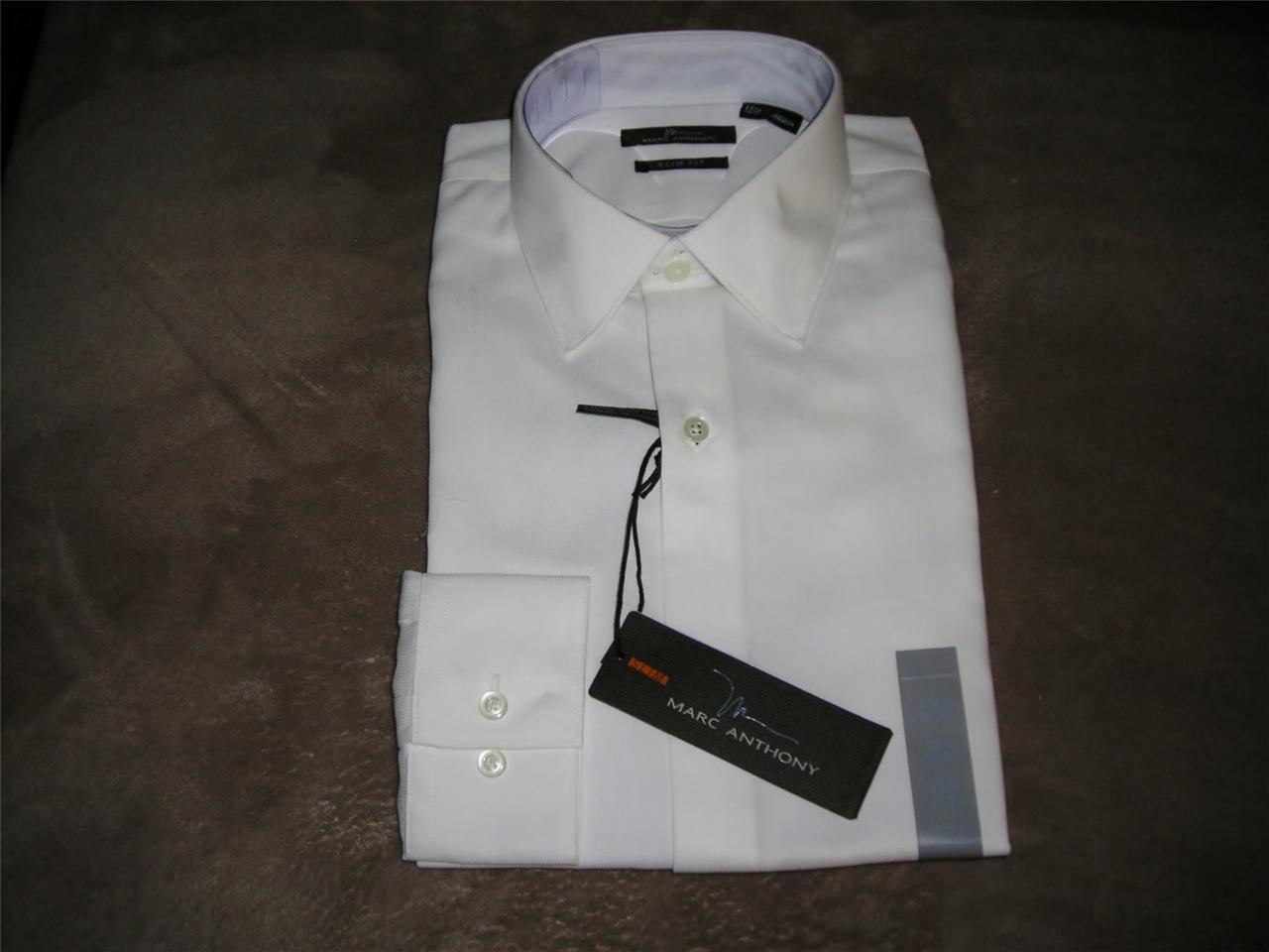 Marc anthony slim fit spread collar dobby dress shirt dif for Tony collar dress shirt