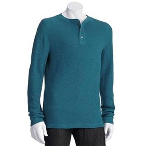 Sonoma mens thermal henley shirt many colors and sizes for Men s thermal henley long sleeve shirts