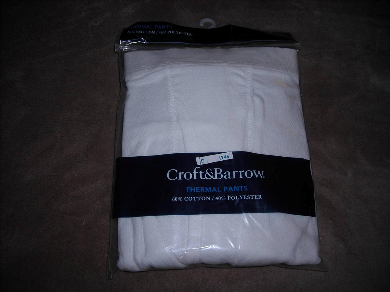 croft barrow mens gray or white thermal long underwear. Black Bedroom Furniture Sets. Home Design Ideas