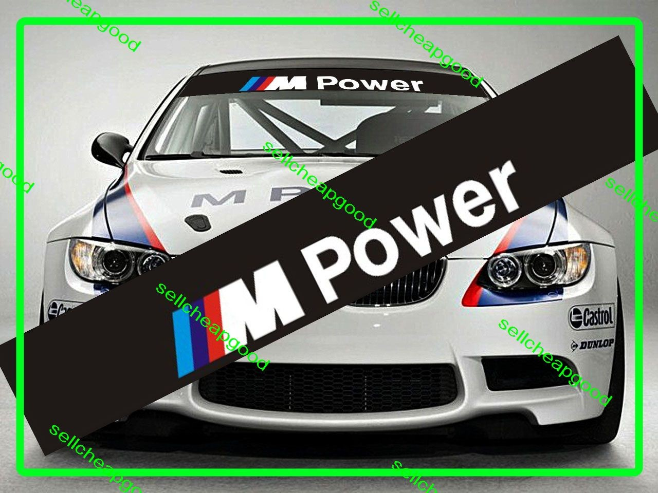 Bmw M Power Windshield Decal 1m M3 M5 M6 Z3 Z4 Z8 X5 M X6