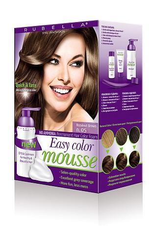 RUBELLA EASY COLOR MOUSSE No ammonia permanent hair color ...