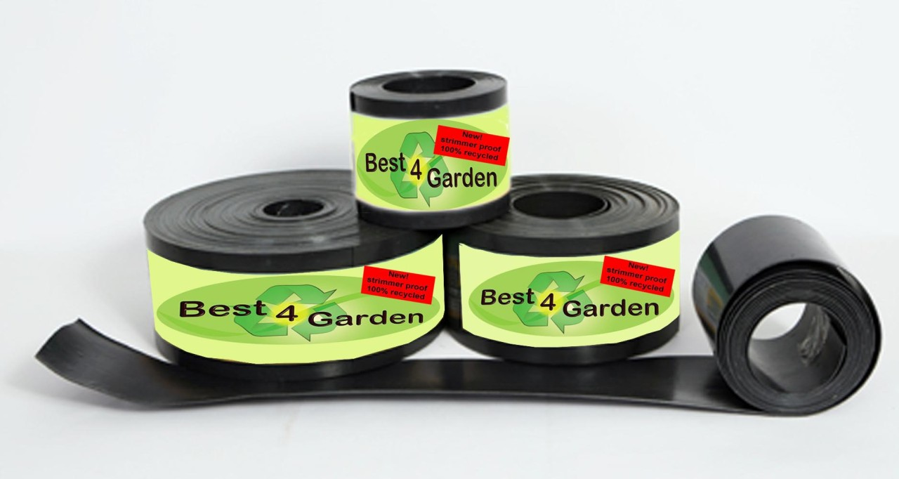 Recycled-plastic-lawn-edging-roll-black-green-brown