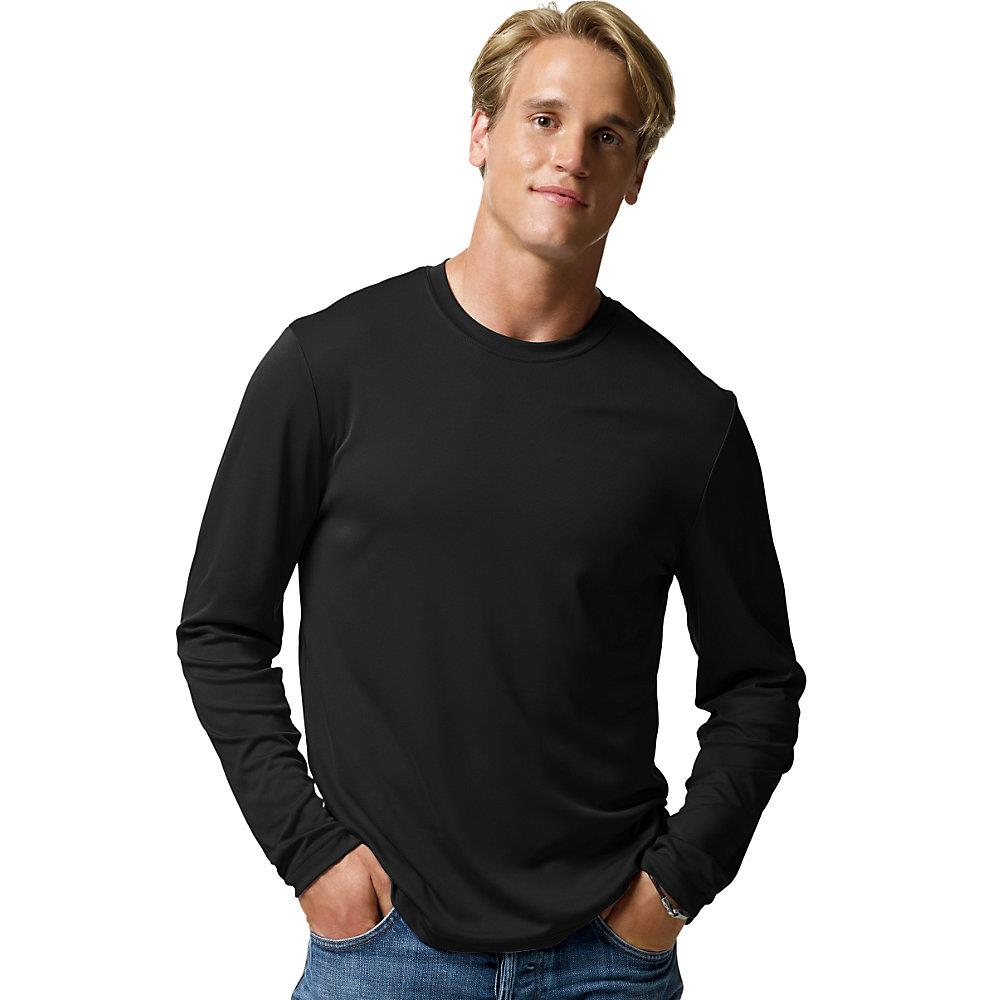 Hanes cool dri performance men 39 s long sleeve t shirt 482l for Long sleeve cooling mens shirts