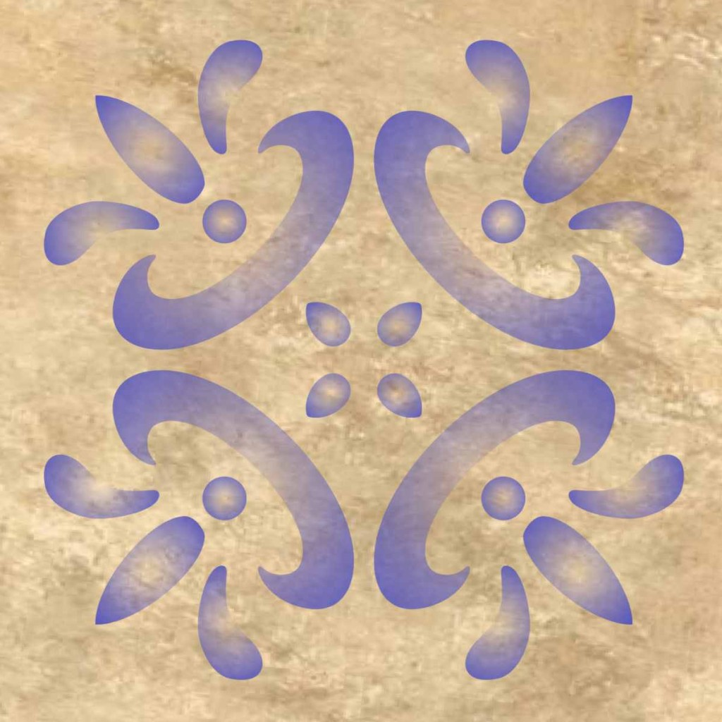 Mexican Tile Design Wall Pattern Stencil . Multiple Sizes Small to ...
