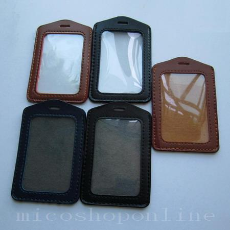 Lot 5 ID Card Holder Badge Business Vertical for Badge Reel Lanyard Choice