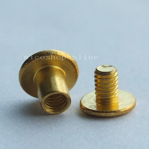5 10 20 50 Button Stud Screwback Leather Belt Chicago Screw nail rivet bag 10mm