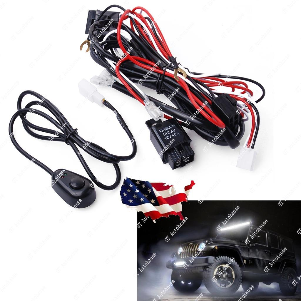 Universal Relay Harness Wire ON OFF Switch For LED Fog