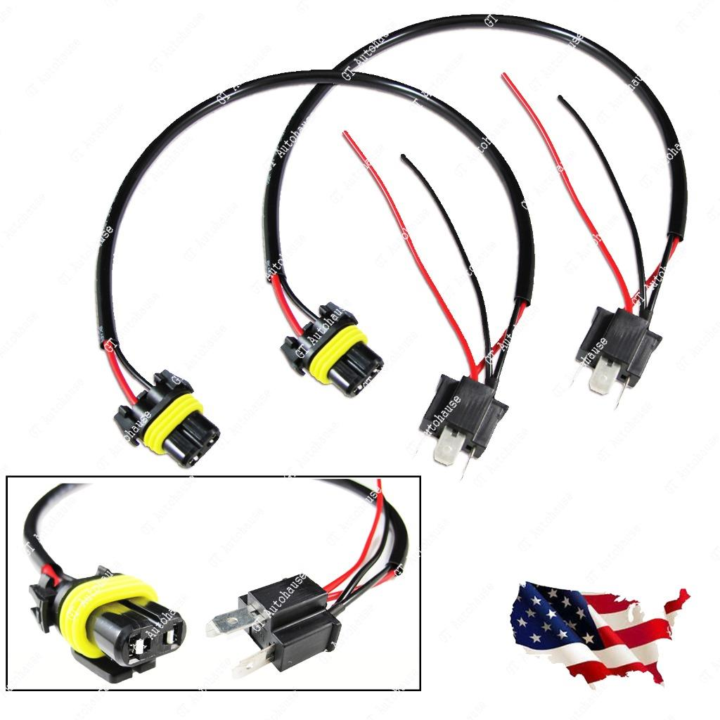 Stanley Wiring Harnes: 2x 9006 HB4 To H4 9003 Wire Harness Socket For Retrofit