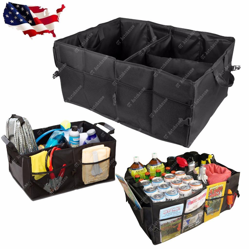 cargo organizer foldable multi purpose storage box bag case  car trunk suv