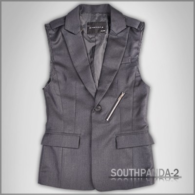 Fashion Vests on Cm032 Dark Grey One Button Fashion Men S Suit Vest   Ebay
