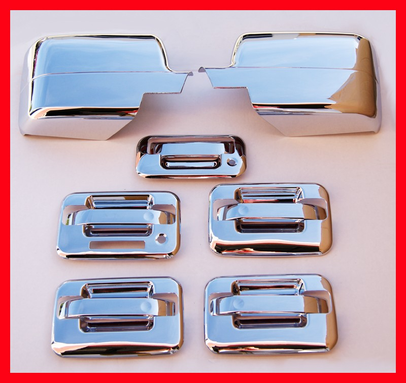 04 08 Ford F150 Chrome Door Handle Mirror Covers Bezels