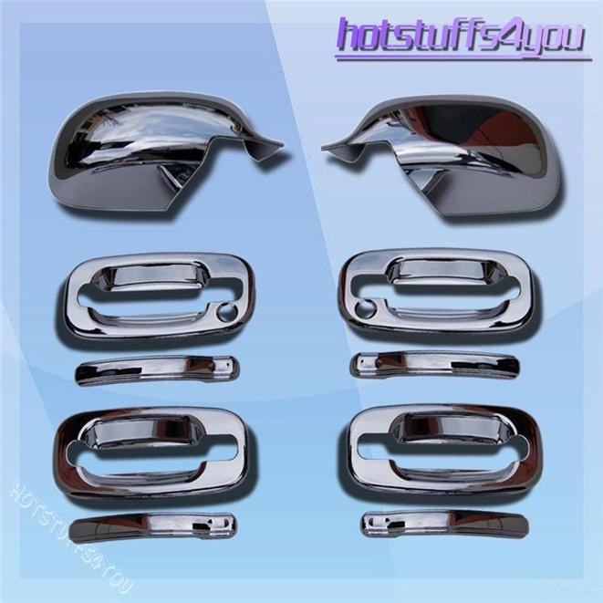 Chevy Silverado GMC Sierra Tahoe Suburban Yukon Chrome Door Handle Mirror Covers
