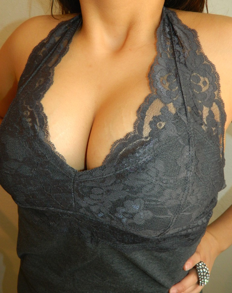 Busty halter tops have