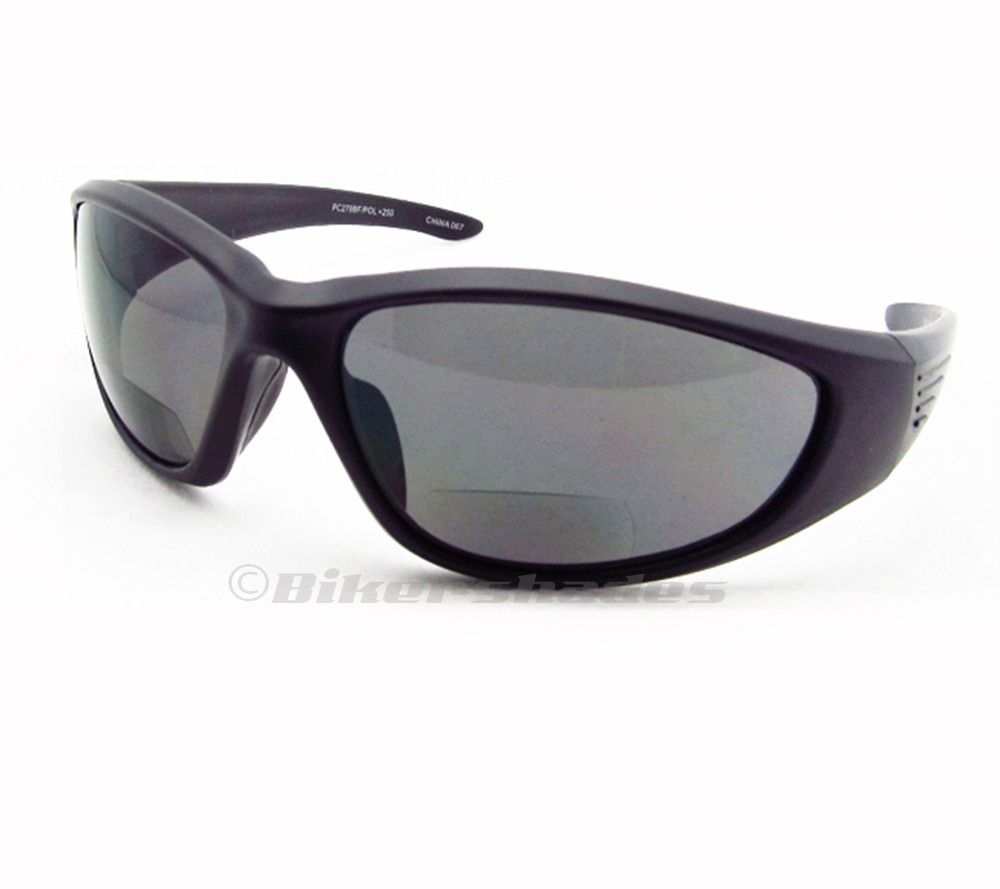 polarized bifocal sunglasses reader smoke brown sports